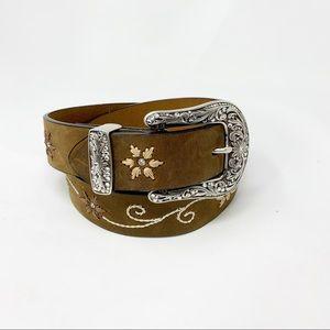 Nocona | Flower Embroidered Belt